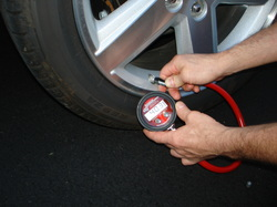the correct tyre pressure can save puncture repairs